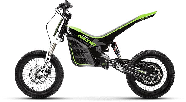 Product shot for the Kuberg Trial Hero electric dirt bike.