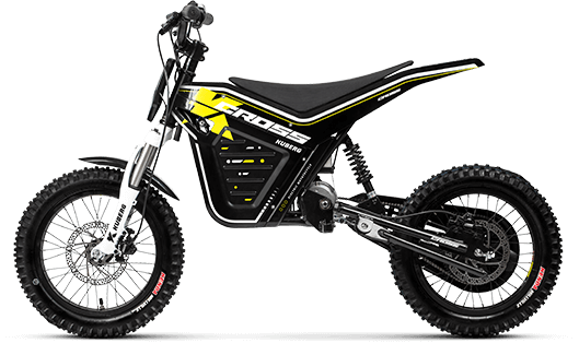 Product shot for the Kuberg Cross electric dirt bike.